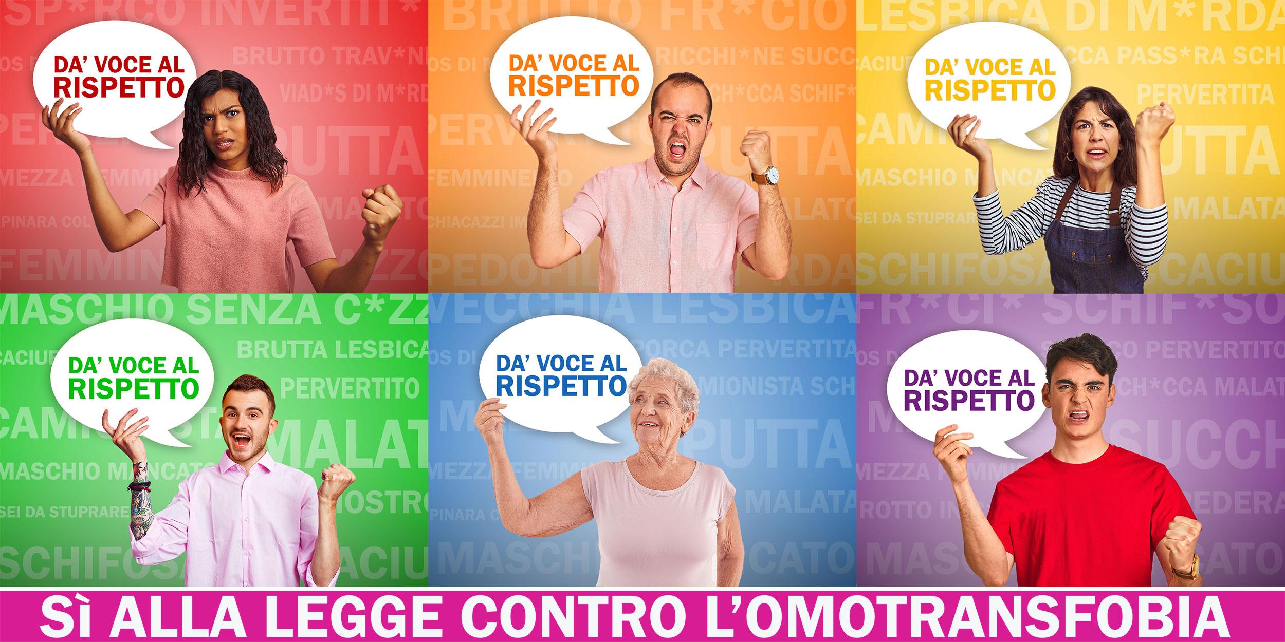 Da' voce al Rispetto - Sì alla legge contro l'Omotransfobia