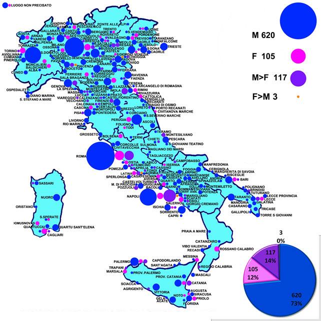 Episodi di Omo-bi-lesbo-transfobia in italia 2012-2019